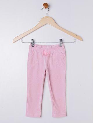 Calça Veludo Infantil para Menina - Rosa