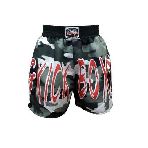 Calção / Short Kickboxing - Military V2 - Camuflado - Duelo Fight - Duelo Fight