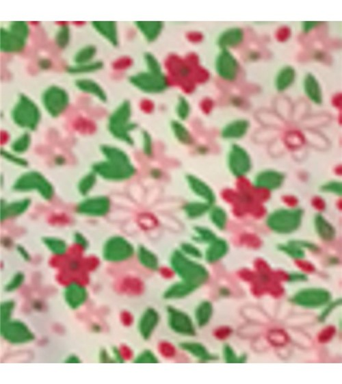 Calcinha Microfibra Fio Dental - 218 Flores Vinho Folhas Verde G