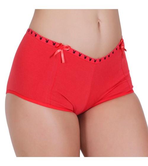 Calcinha Short Algodão - 775 Vermelho/M