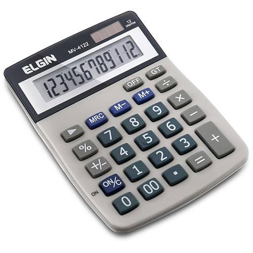 Calculador de Mesa C/ Visor e 12 Dígitos - MV4122- Elgin