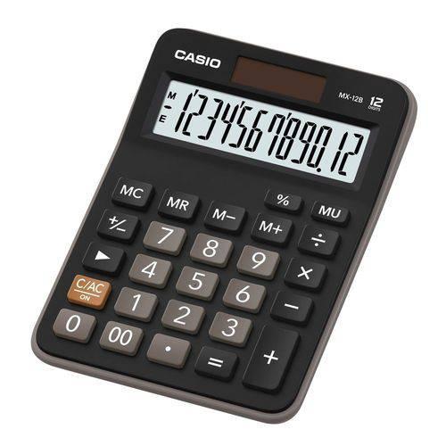 Calculadora Casio de Mesa Mx-12b 12 Digitos - Preto