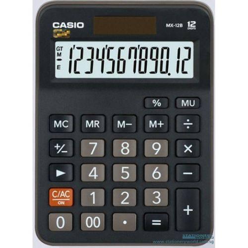 Calculadora Casio de Mesa Preto DX-12B