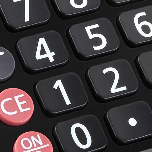 Calculadora com 8 Dígitos MV4133 Preto - Elgin