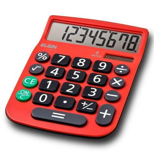 Calculadora de 8 Dígitos Vermelha MV 4131 Elgin