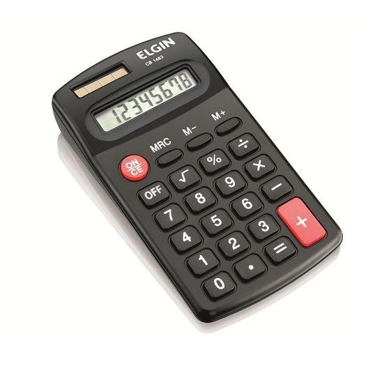 Calculadora de Bolso 8 Dígitos Cb1483 Preta - Elgin