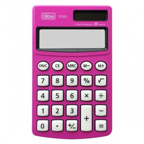 Calculadora de Bolso 8 Dígitos Grande TC03 Rosa 238937