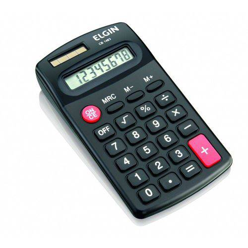 Calculadora de Bolso 8 Dígitos Preta CB1483 - Elgin