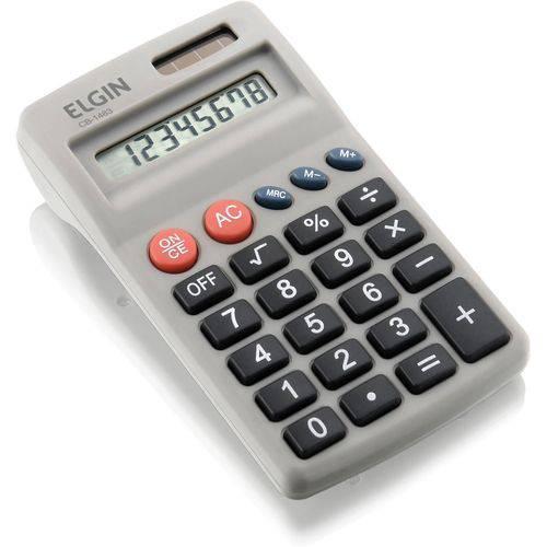 Calculadora de Bolso 8dig.solar/pilha Aa Preta Elgin Unidade