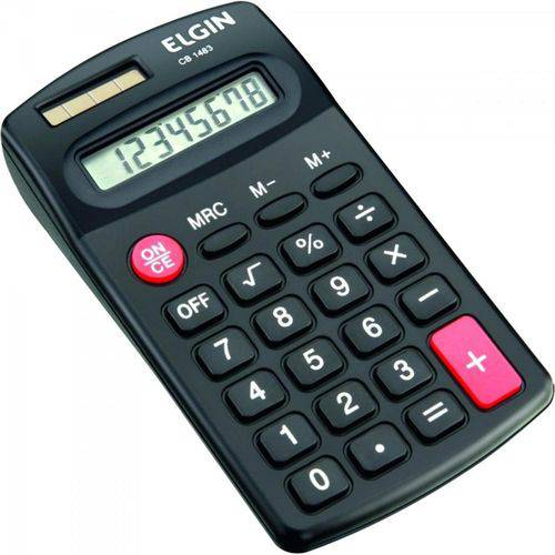 Calculadora de Bolso Cb 1483 Preto Elgin
