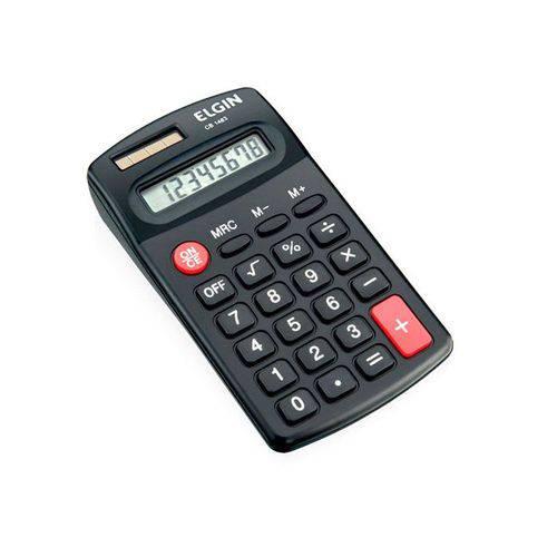 Calculadora de Bolso Elgin 8 Digitos Bateria Solar Cx 42cb14830000