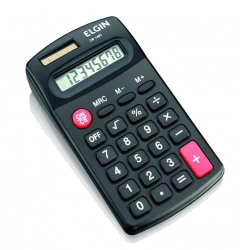 Calculadora de Bolso Elgin Blister Solar e Pilha - Cb 1485