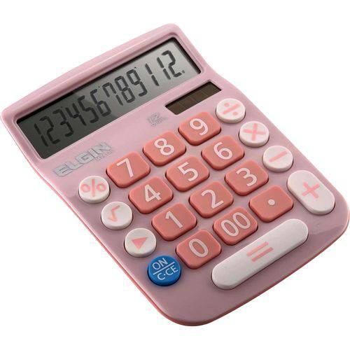 Calculadora de Mesa 12 Digitos Mv 4130 Rosa Elgin