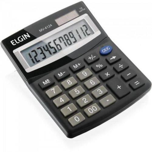Calculadora de Mesa 12 Digitos Mv 4124 Preto Elgin
