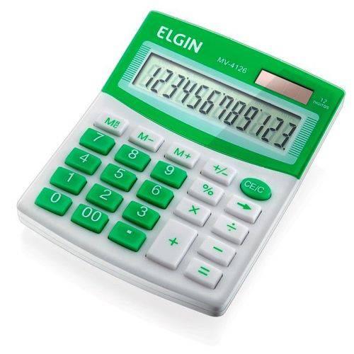 Calculadora de Mesa 12 Digitos Mv 4126 Verde Elgin