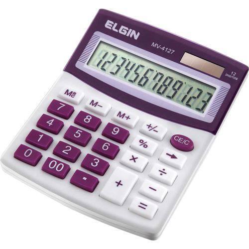 Calculadora de Mesa 12 Digitos Mv 4127 Roxo Elgin