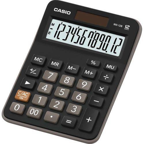 Calculadora de Mesa 12dig. Preta Bat/solar