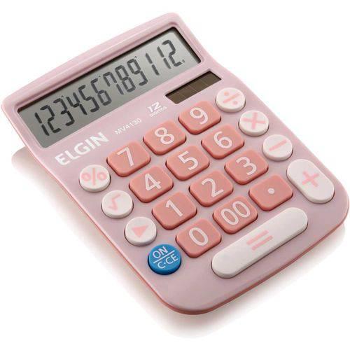 Calculadora de Mesa 12dig.visor Lcd Solar/bat Rosa