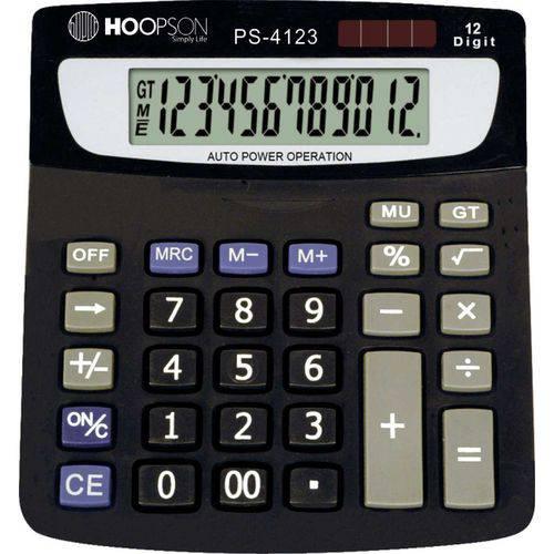 Calculadora de Mesa 12digitos Bat/solar Preta
