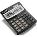 Calculadora de Mesa 12digitos Solar/bateria Preta