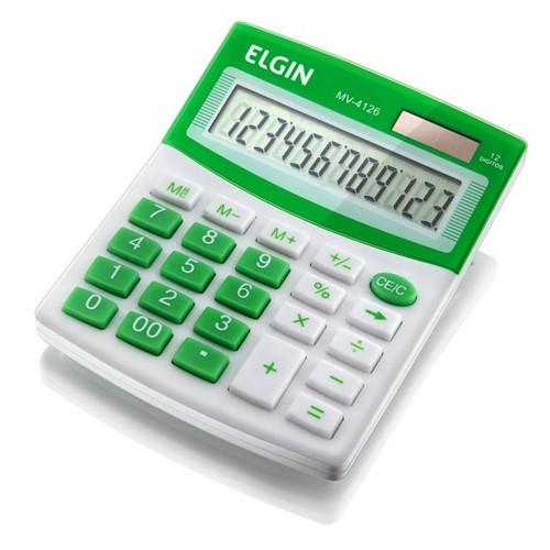Calculadora de Mesa de 12 Dígitos MV-4126 Verde - Elgin