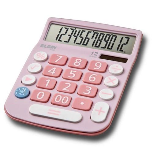 Calculadora de Mesa de 12 Dígitos Rosa MV-4130 - Elgin