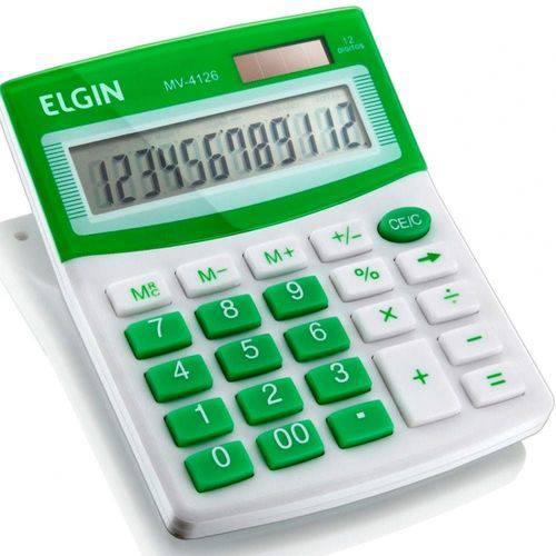 Calculadora de Mesa ELGIN MV 4126 Verde