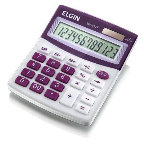 Calculadora de Mesa Mv 4127 12 Digitos Elgin