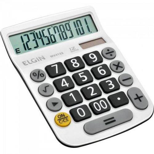 Calculadora de Mesa Mv4132 Branco Elgin