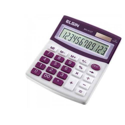 Calculadora de Mesa MV4127 Roxo ELGIN