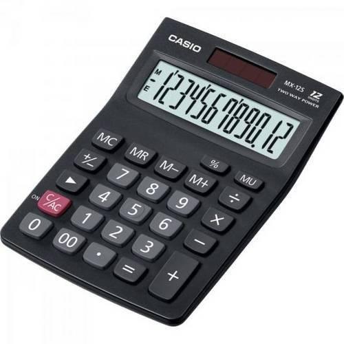Calculadora de Mesa Mx-12s Two Way Power Preta Casio