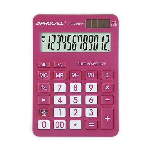 Calculadora de Mesa Procalc Pc286 Pk 12 Digitos Pink