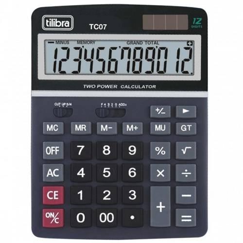 Calculadora de Mesa TC07 Preta - Tilibra