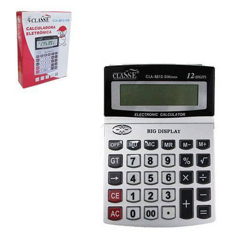 Calculadora Eletrônicas de Mesa 12 Dígitos de Acrílico