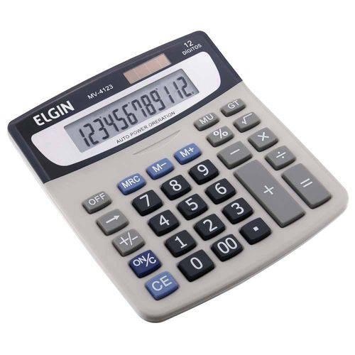 Calculadora Elgin de Mesa Mv-4123 Cinza