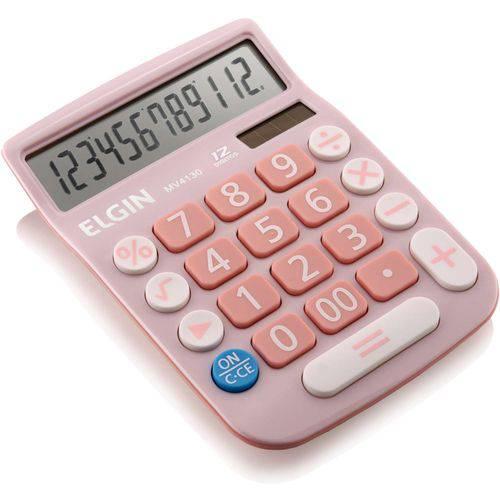 Calculadora Lcd Solar/bat Rosa
