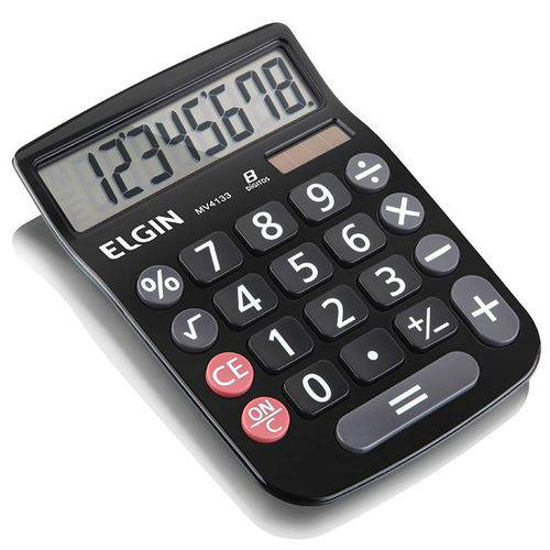 Calculadora Mv4133 8 Digitos Preto Elgin