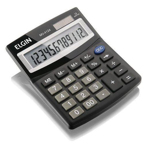 Calculadora Mv4124 12 Digitos Preto Elgin