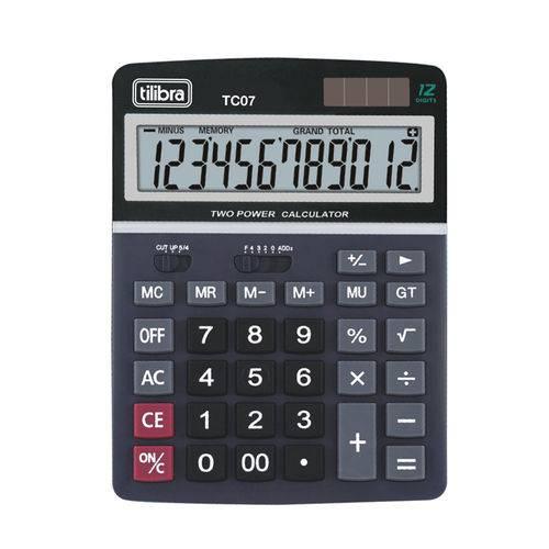 Calculadora Tilibra de Mesa Preto Tc07