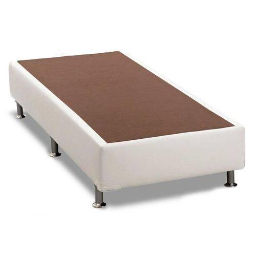 Cama Box Base Ortobom Courino Branco 30 - Solteiro - 0,88x1,88x0,30