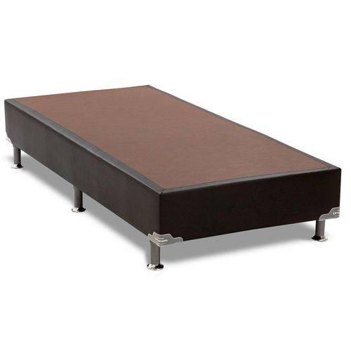 Cama Box Base Ortobom Courino Preto 30 - Solteiro - 0,88x1,88x0,30
