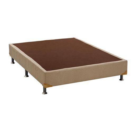 Cama Box Base Ortobom Nobuck Bege 30 - Casal - 1,28x1,88x0,30