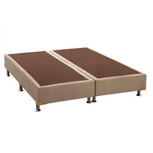Cama Box Base Ortobom Nobuck Bege Crema - King - 1,93x2,03x0,20