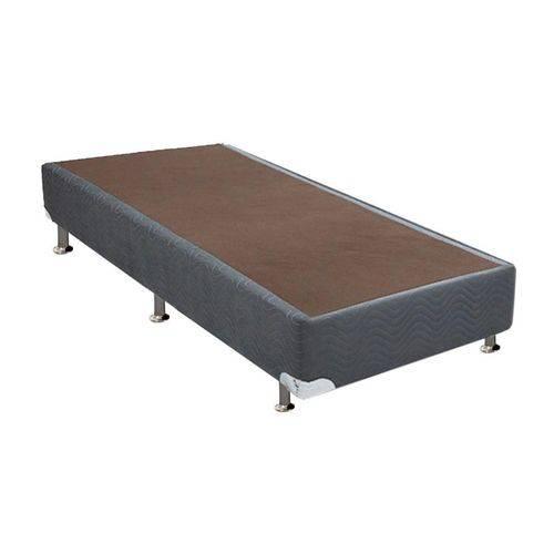Cama Box Base Universal Nobuck Cinza 20 - Solteiro - 0,96x2,03x0,20