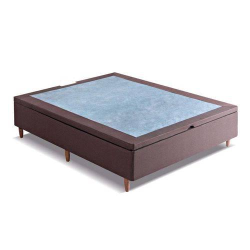 Cama Box Baú Kappesberg Sommier Marrom - Casal - 1,38x1,88x0,30