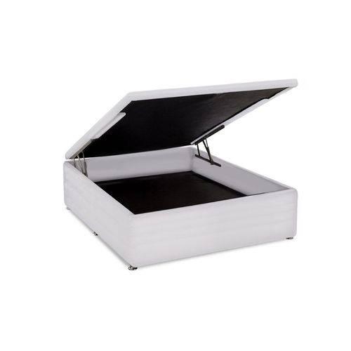 Cama Box Baú Ortobom Couríno Bianco -Casal-1,38x1,88x0,35