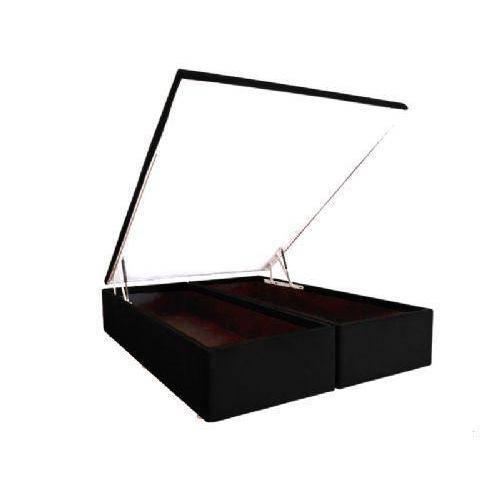 Cama Box Baú Ortobom Couríno Nero Black -King Size-1,86-(2 Vol 0,93x1,98x0,35)