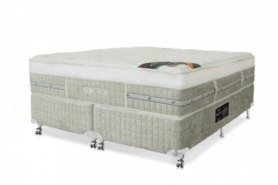 Cama Box + Colchão Castor Casal Eurotop Summer & Winter 128x188x74cm 35179/21291 -