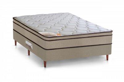 Cama Box + Colchão Castor Solteiro Molas Bonnel Innovation One Face 120x203x67cm 03408/21211 -