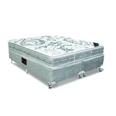 Cama Box + Colchão Castor Queen Size Molas Pocket Látex Double Face 158x198x76cm 53148 -